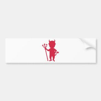 Diablo rojo pegatina de parachoque
