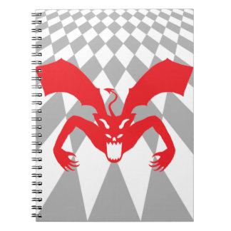 Diablo rojo libros de apuntes con espiral