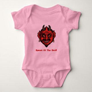 Diablo rojo de cuernos de Fanged Body Para Bebé