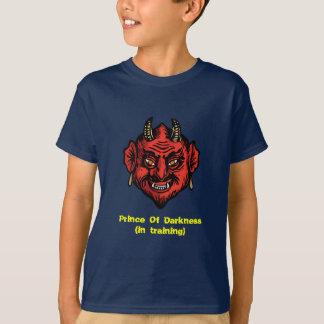 Diablo rojo de Fanged con los cuernos Playera
