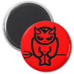 Diablo rojo de Lil Imán De Nevera