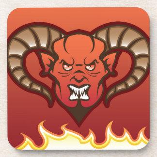 Diablo rojo del vector del demonio posavasos de bebidas