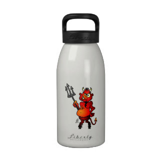 Diablo rojo gordo botellas de agua reutilizables