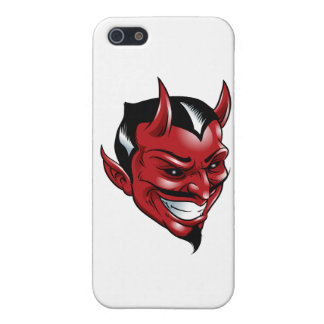 Diablo rojo iPhone 5 fundas