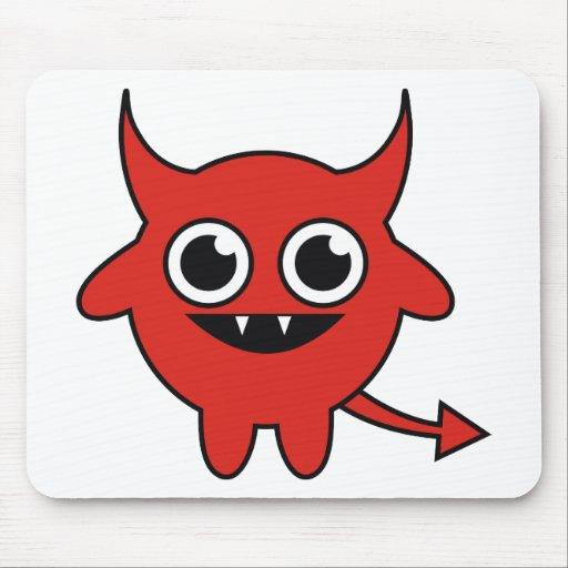 Diablo rojo lindo tapete de raton