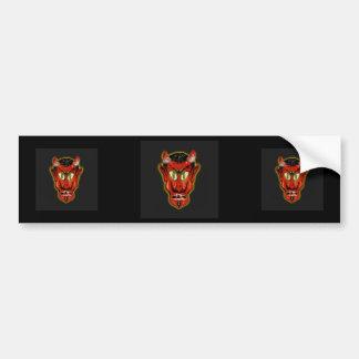 Diablo rojo pegatina para auto