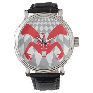 Diablo rojo reloj