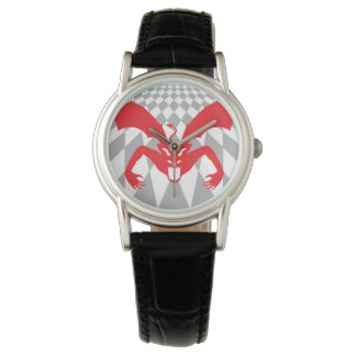 Diablo rojo relojes de pulsera