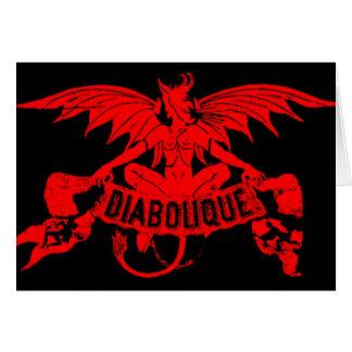 Diablo rojo Satan Halloween de Diabolique Tarjeta De Felicitación