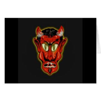 Diablo rojo tarjeta pequeña