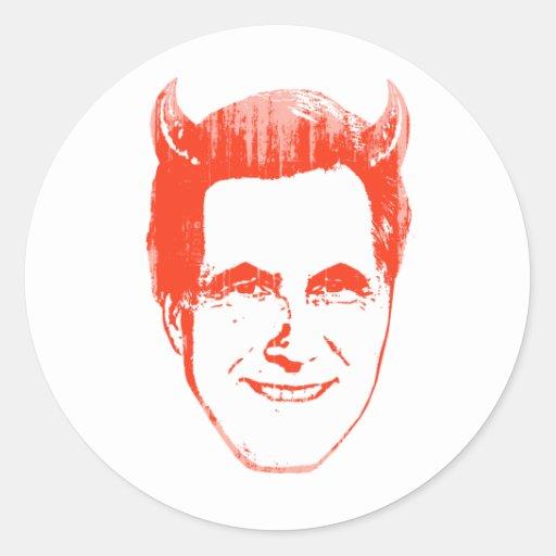 Diablo Romney.png Pegatina Redonda