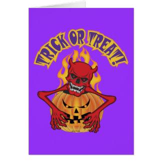 Diablo Skul de Halloween Tarjeta De Felicitación