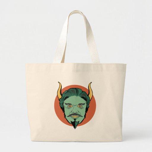 Diablo sonriente bolsa tela grande