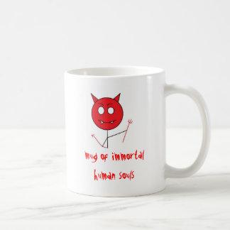 diablo, taza de almas humanas inmortales