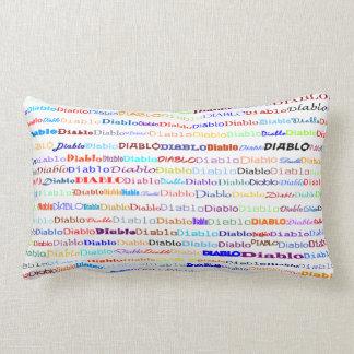 Diablo Text Design II Lumbar Pillow Pillow