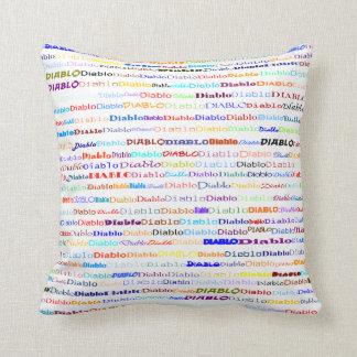 Diablo Text Design II Throw Pillow Pillow