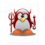 Diablo Tux (Linux Tux) Postal