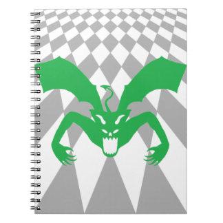 Diablo verde cuaderno