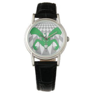 Diablo verde reloj de mano