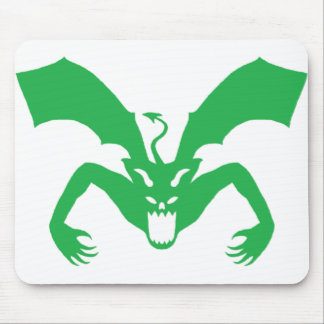 Diablo verde alfombrilla de raton
