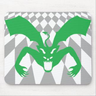 Diablo verde tapetes de raton