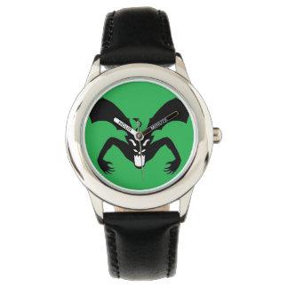 Diablo verde y negro relojes de mano