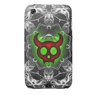 Diablo y caja de cuernos rojos del iPhone 3/3GS de iPhone 3 Carcasas
