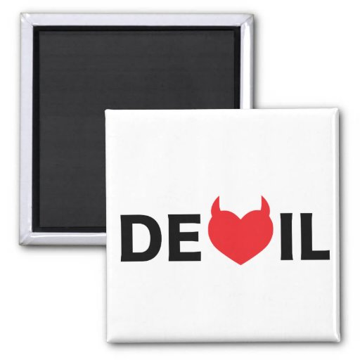 Diablo y corazón iman