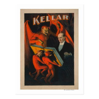 Diablo y demonios de Kellar con el poster mágico Tarjetas Postales