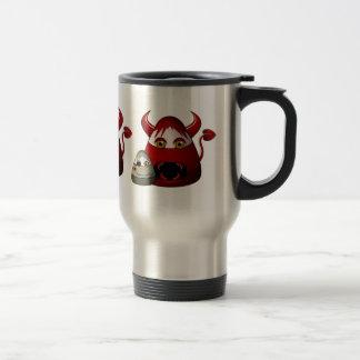 Diablo y zombi espeluznantes de las pastillas de c tazas de café