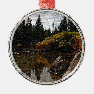 Diablos arte del lago, Oregon Adorno Redondo Plateado