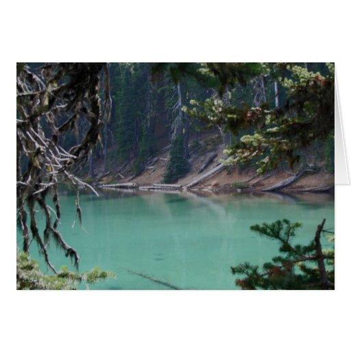Diablos lago, Oregon de la turquesa Tarjeta De Felicitación