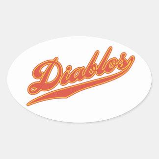 Diablos Script Oval Sticker