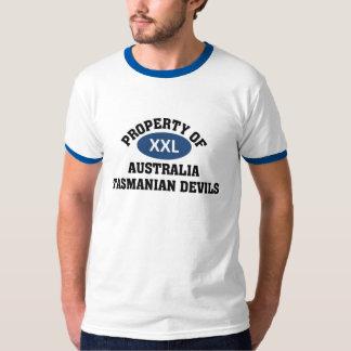 Diablos tasmanos de Australia Playera