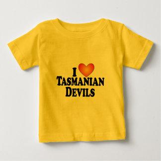 Diablos tasmanos I (corazón) - Multi-Productos de Playera De Bebé