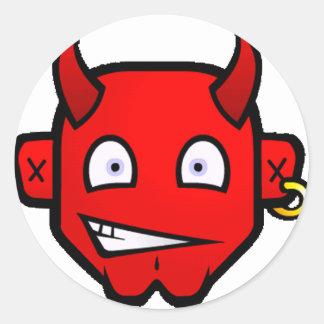 Diabolical Devil - small Classic Round Sticker