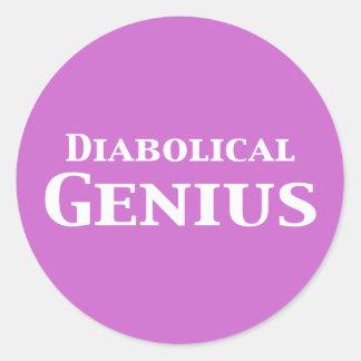 Diabolical Genius Gifts Classic Round Sticker