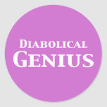 Diabolical Genius Gifts Stickers