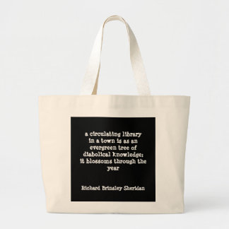 Diabolical knowledge library tote bag
