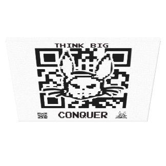 Diabolical Rabbit Elsby QR Code Canvas Print