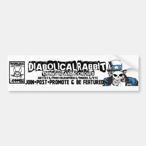 Diabolical Rabbit TBC Sticker Car Bumper Sticker