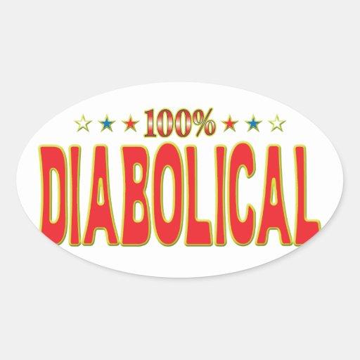 Diabolical Star Tag Oval Sticker