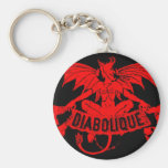Diabolique Devil Satan Vintage Cigar Label Art Key Chain