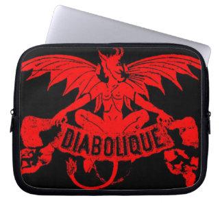 Diabolique Winged Devil Graphic Art Laptop Sleeve