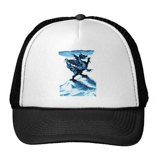 DIABOLUS the DRAGON vintage c.1682 in blue Mesh Hat