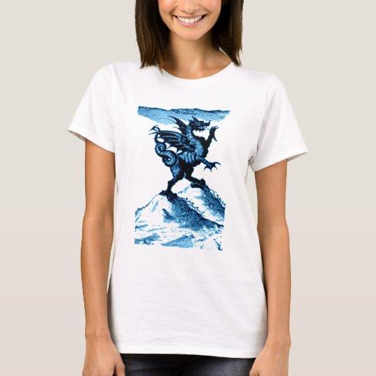 DIABOLUS the DRAGON vintage c.1682 in blue T-Shirt