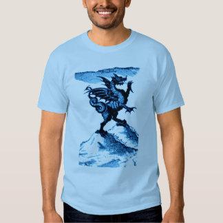 DIABOLUS the DRAGON vintage c.1682 in blue T Shirts
