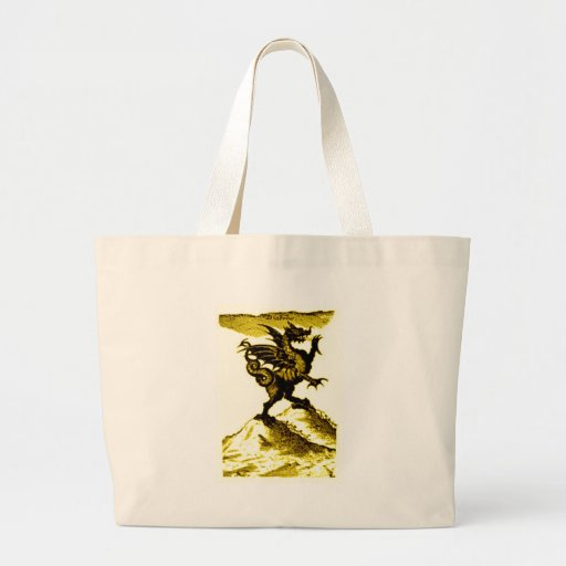 DIABOLUS the DRAGON vintage c.1682 in Gold Tote Bags