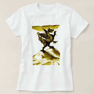 DIABOLUS the DRAGON vintage c.1682 in Gold T-Shirt
