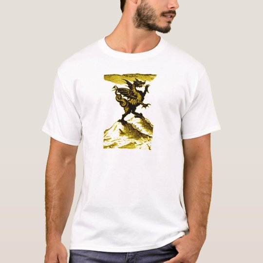 DIABOLUS the DRAGON vintage c.1682 in Gold T-Shirt